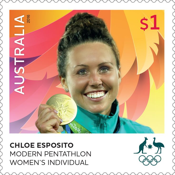 Congratulations to Chloe Esposito for winning a gold medal in the Women's Modern Pentathlon at Rio 2016 Olympic Games. The stamp sheetlet celebrating her win is now available in participating Post Offices and online, while stocks last: http://auspo.st/2bbgCls  #OneTeam #ChloeEsposito #Rio2016