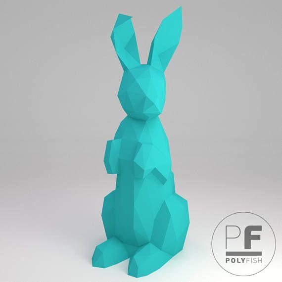 Bunny Papercraft Rabbit Origami DIY Easter Bunny Origami