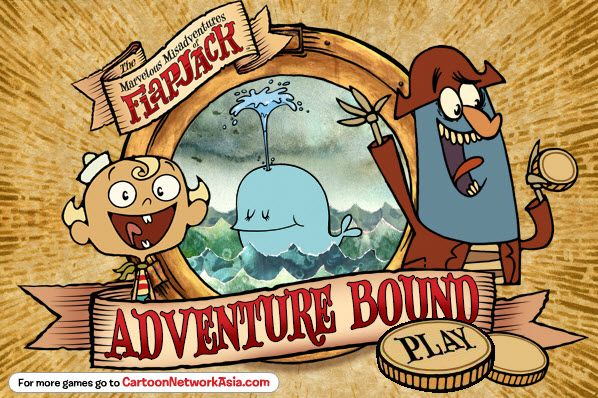 Play #Flapjack: Adventure Bound. Join Flapjack find treasure in the sky by shooting him into the air!