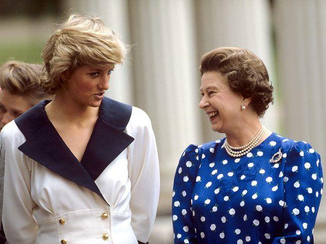 Queen Elizabeth Ii And Princess Diana 1987 Princess Diana