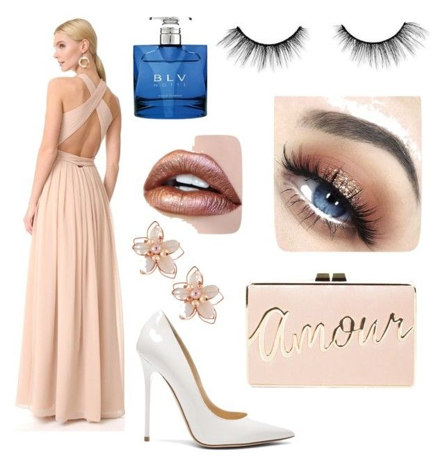 """""""PROM NIGHt⭐️"""" by alice12 on Polyvore featuring Monique Lhuillier, Jimmy Choo, BCBGMAXAZRIA, NAKAMOL, Bulgari and tarte"""