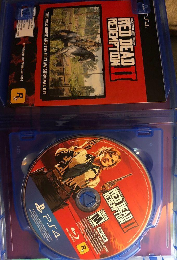 Red Dead Redemption 2 Standard Edition Playstation 4 With War Horse Code Red Dead Redemption War Horse Redemption