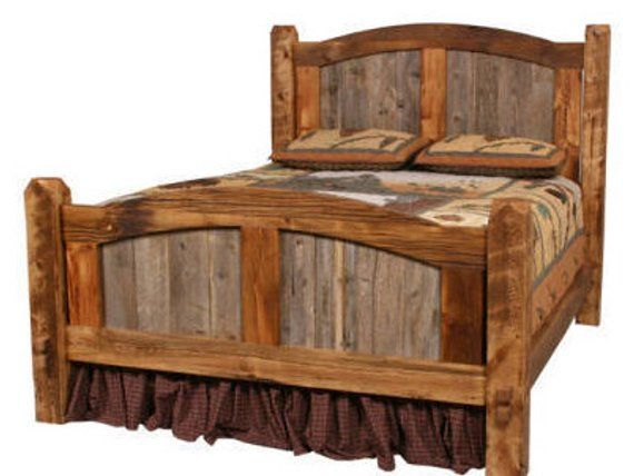 Natural Barn Wood Prairie Bed Arched Headboard Rustic Bed Rustic