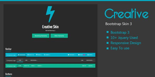 Creative Bootstrap Skin is a responsive and multipurpose code work as structure for every single planning task with the utilization of Twitter Bootstrap v3.3.0 Framework. It utilizes CSS3 to adjust the format to the review environment. Each Designer Should have Such sort of Framework.