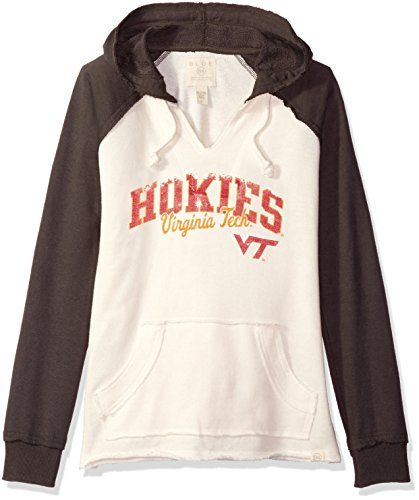 NCAA Virginia Tech Hokies Womens French Terry Hoodie BoneCinder Small >>> Visit the image link more details.