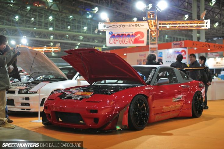 Nissan 180SX with LS swap and Rocket Bunny kit. Built by Nouvelle Vague Racing.