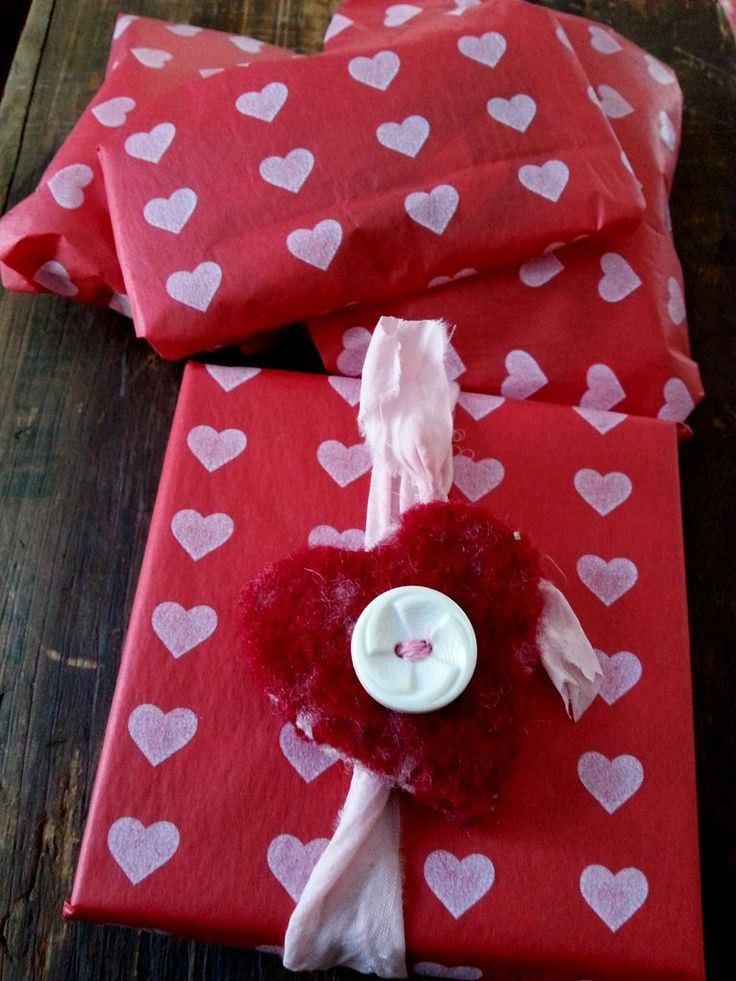 Packages wrapped and ready to be sent  (on Valentine's Day)to my partner, Mowse Doyle.