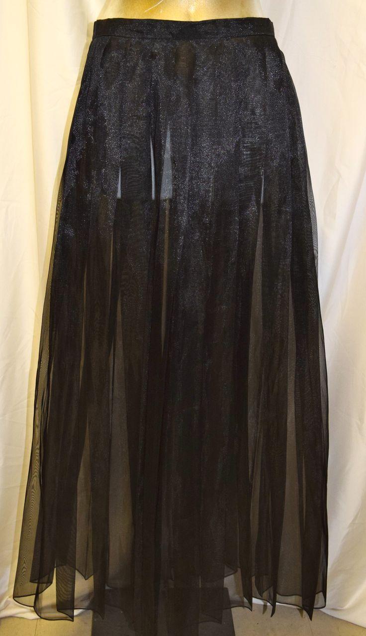 Vintage Black Sheer Formal Skirt