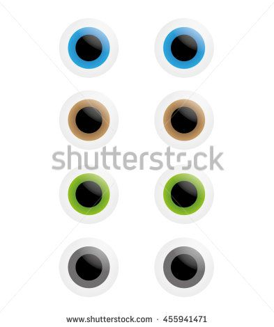Smooth Vector Eyes, Blue, Brown, Green, Grey