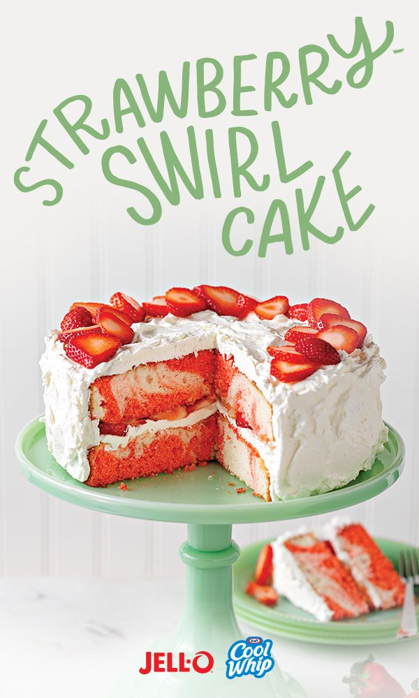 Strawberry shortcake's got nothing on our Strawberry Swirl Cake. Especially how easy it is to make with JELL-O and COOL WHIP. You've gotta try it, ASAP.