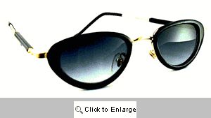 Raven Oval Resin Sunglasses - 422 Black