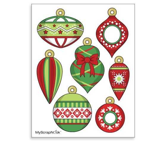 Download this Printable Ornaments and other free printables from MyScrapNook.com