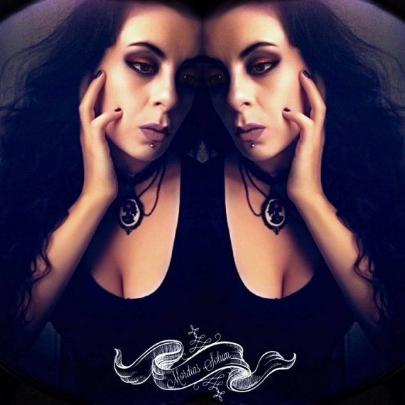 Dia De Los Muertos Gothic Skeleton Lady Cameo by MordiasSolum