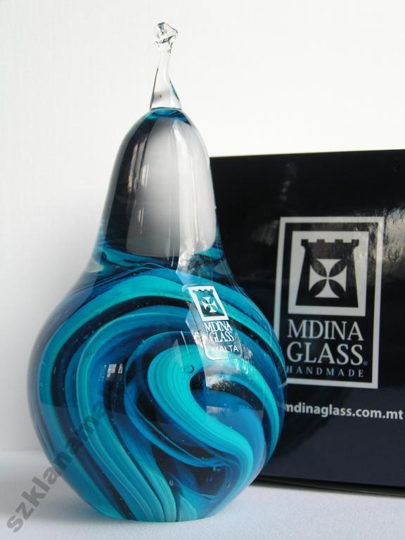 Gruszka figurka szklana Mdina Glass -39%