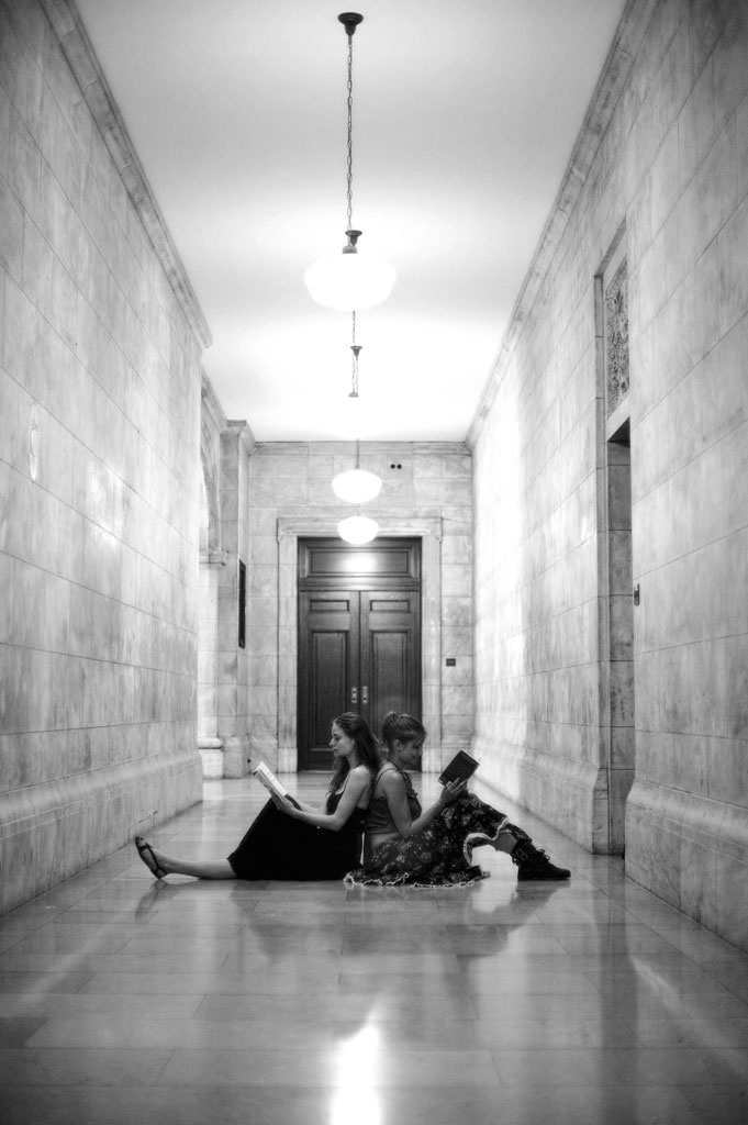 Carolyn and I at the NY Library, by Rick Poston, 2011