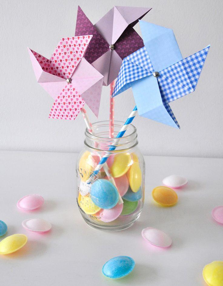 Süßes Origami Windrad - schnell und einfach selbermachen