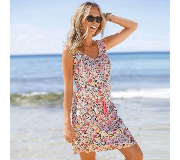 Šaty s potlačou a šnúrkou v páse | blancheporte.sk #blancheporte #blancheporteSK #blancheporte_sk #spring #summer #wear