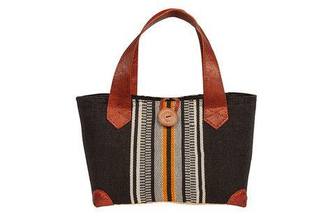 New for SS15 - Ravinala Aztec tote New for #leather #raffia #cotton #button #drawstring #beachbag #strawbag #tote #basket