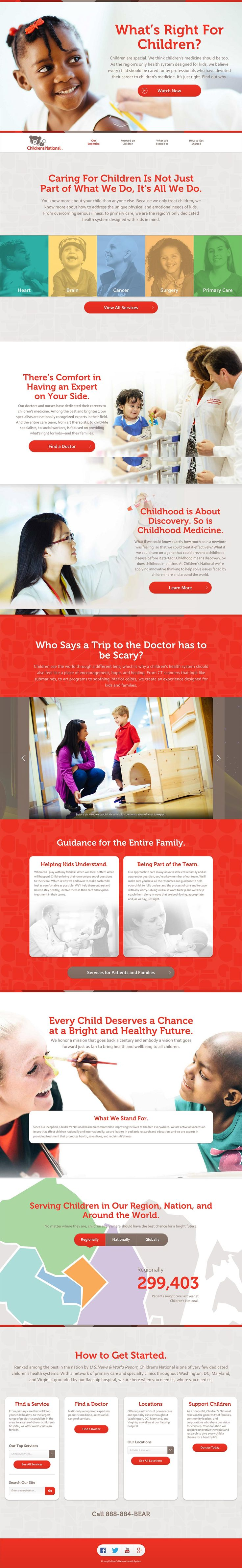 How to design a website for kids - Responsive One Page Campaign To Bring Awareness To A Health System Designed For Kids One Website Design