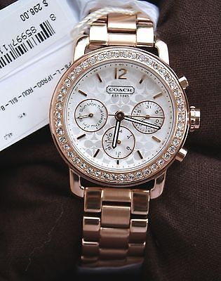 NWT COACH LEGACY SPORT MINI BRACELET WATCH CRYSTALS WOMENS ROSE GOLD TONE  Watches | eBay