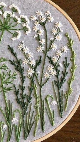 Wildflower embroidery – #Bordado A Mano #Bordado en hilo #Bordado mexicano patro…