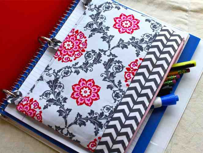 Easy Sew-It-Yourself Pencil Case For 3 Ring Binder | Little House in the Suburbs