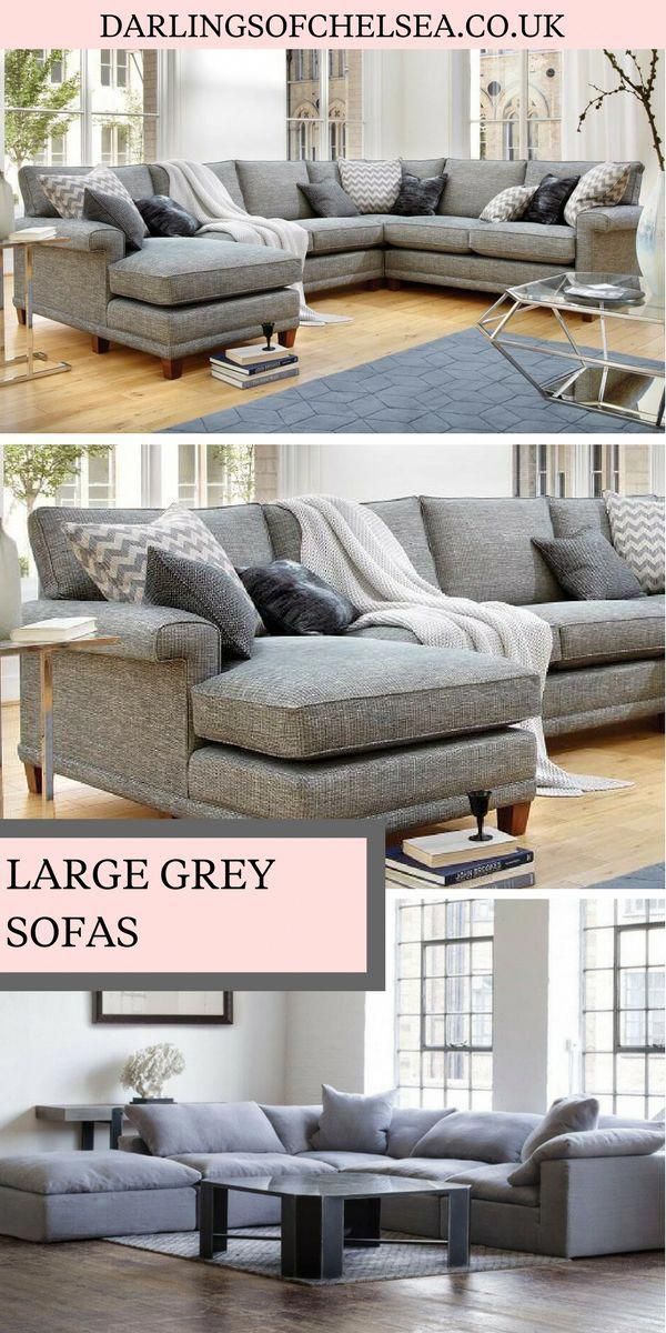 Grey Sofas Are Still Some Of The Most Popular For Homes In The Uk Large Grey Sofas Are Perfect As A Neutral Sofa For Any With Images Corner Sofa Living Room