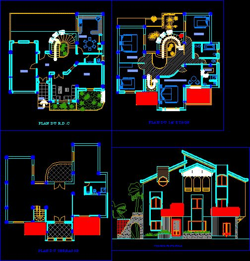 Plan bâtiment dwg Architecture plan, Architecture and AutoCAD