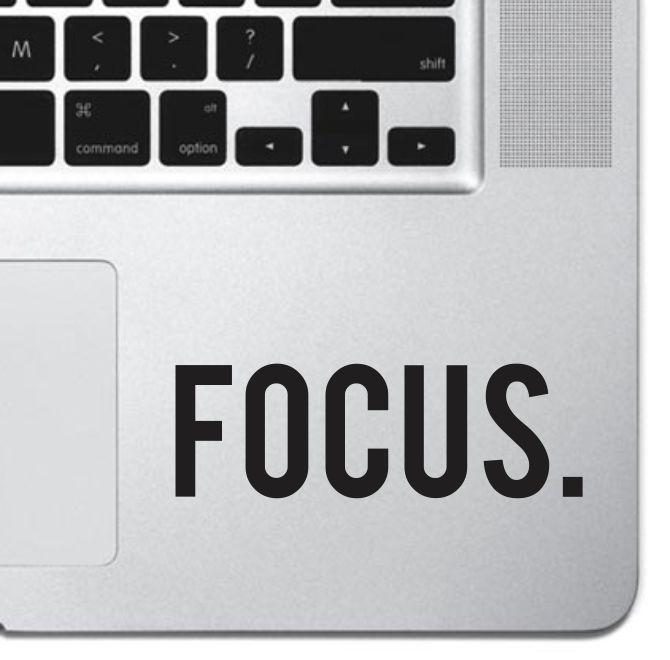 Focus Macbook Pro Air Keyboard Sticker iPad Decal Motivational Text Sticker iPad #UnbrandedGeneric