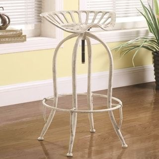 Shop for Distressed White Tractor Design Seat Adjustable Swivel Bar Stool. Get free shipping at Overstock.com - Your Online Furniture Outlet Store! Get 5% in rewards with Club O! - 23312034