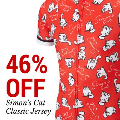 46% OFF Simon s Cat  Classic  cycle jersey ... now that s a bargain ...  when they re gone they re gone!  03cb58905
