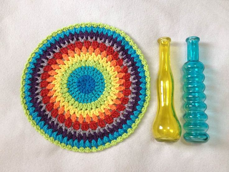 Toalha Mandala crochê  Do canal Crochetar no youtube