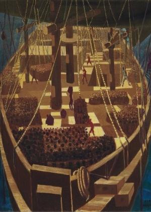 "Obra ""Navio Negreiro"", do pintor brasileiro Candido Portinari"