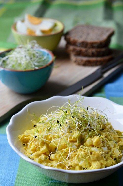 Currys tojássaláta csírával