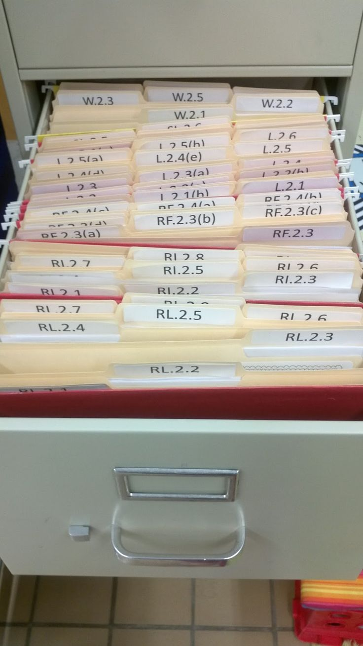Organizing files by CCSS standard (via That's So Second Grade!)                                                                                                                                                                                 More