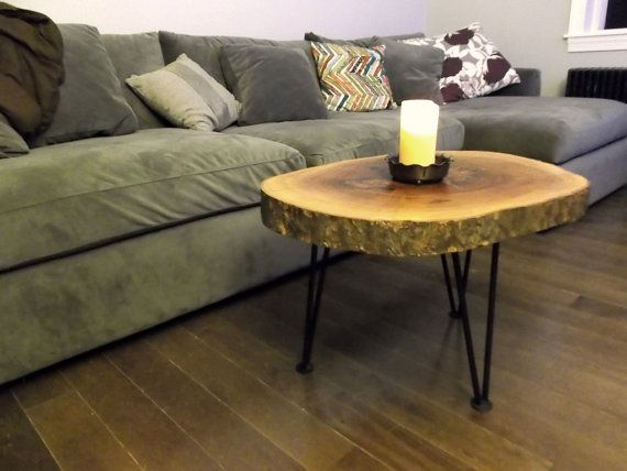 Log Slice Coffee or End Table by ConceptandCreate on Etsy, $220.00