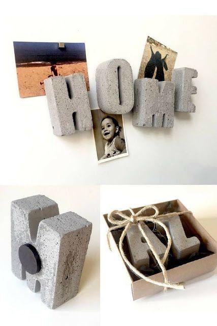 Cómo hacer letras de hormigón para decorar – El …