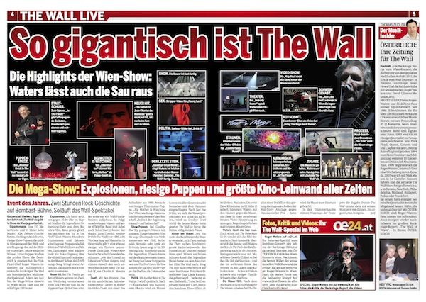 The Wall Extra in ÖSTERREICH