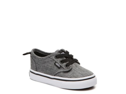 Men's Vans Asher Boys Infant & Toddler Slip-On Sneaker - Grey