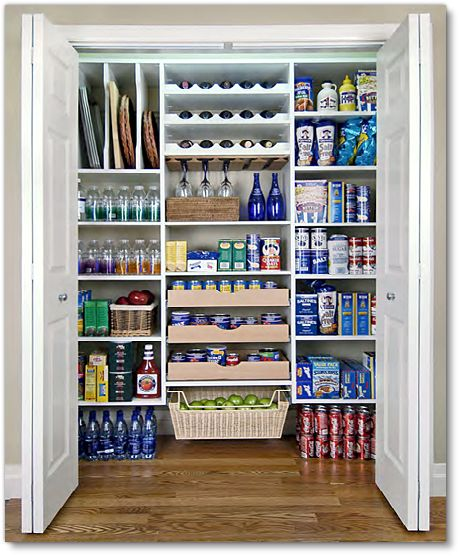 The manufactured homes that have the washer & dryer room right by the kitchen is perfect for this. Put the hookups in the garage amd BAM! you have your pantry space.