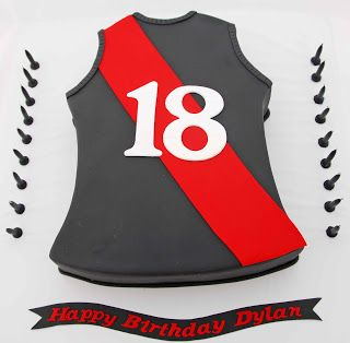 Little Robin: Essendon AFL Footy Jumper Cake