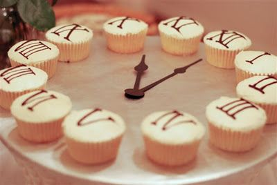 Clock cupcakes. New Years cupcakes - cute and clever!