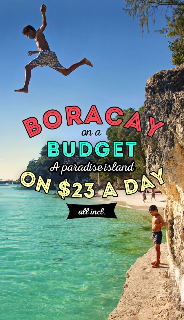 Boracay on a Budget: A World-Class Island in the Philippines on $23 a day | Can you visit one of the most beautiful islands in the world on a low budget? Yes, you can! I'll show you how to enjoy Boracay on less than 1000 PHP ($23 / €17) a day. - via /Just1WayTicket/ #travel #guide