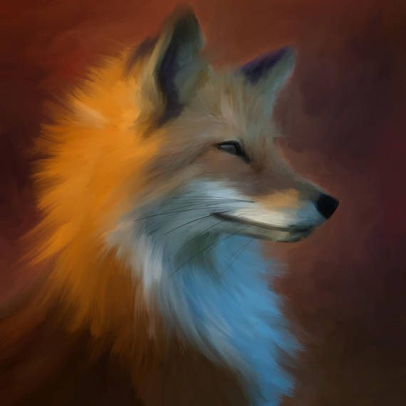 Red Fox 1 cool art print from Orn design