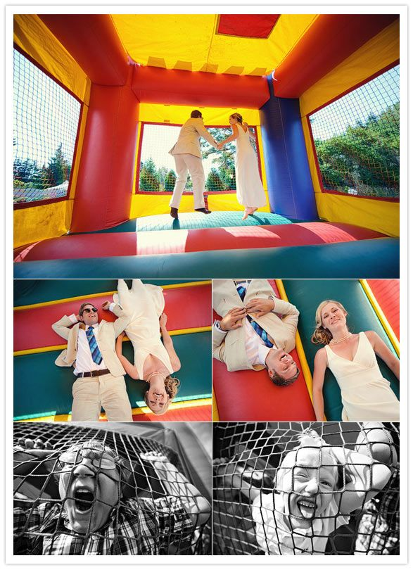netted bounce house so you can laugh at the people inside and they can hear you