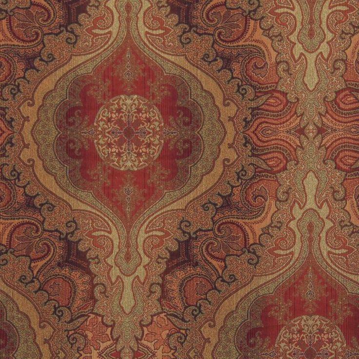 Robert Allen Fabric 168864 Sotero Pomegranate