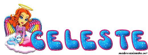 Gif Animado del Nombre Celeste estilo 0150.