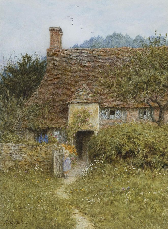 Old Cottage Witley Painting by Helen Allingham - Old Cottage ...fineartamerica.com -