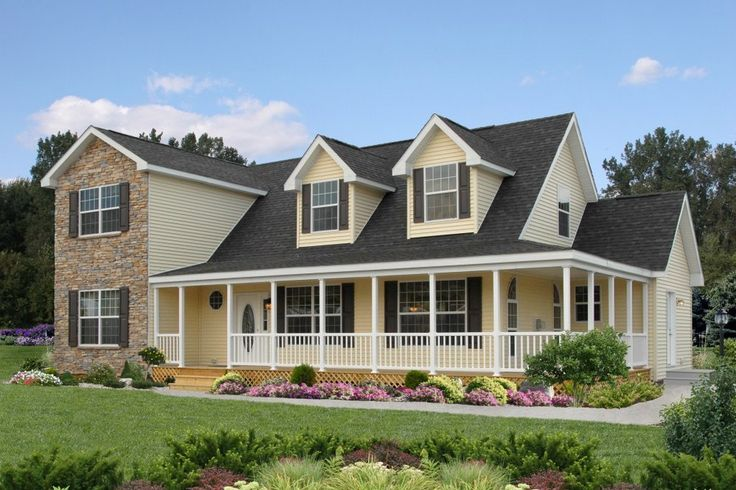 Pennwest homes offers great exterior options to add great for Modular homes with wrap around porch
