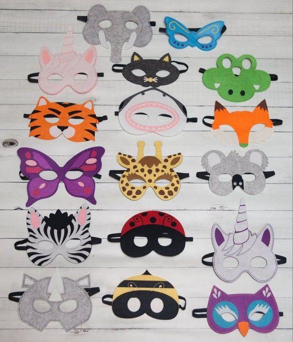 Tiger Zoo Animal Farm Jungle Foam Kid Mask School Party Costume Fancy Dress